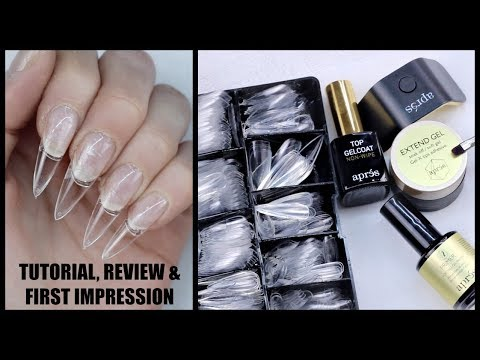 APRES GEL-X NAIL EXTENSION SYSTEM TUTORIAL REVIEW & FIRST IMPRESSION