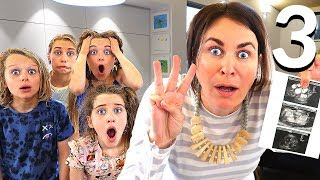 """OMG WE'RE HAVING TRIPLETS"" BABY UPDATE! - Entire family surprise pranked!"