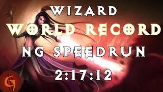 Diablo 3 Wizard Any% NG Former World Record Speedrun 2:17:12