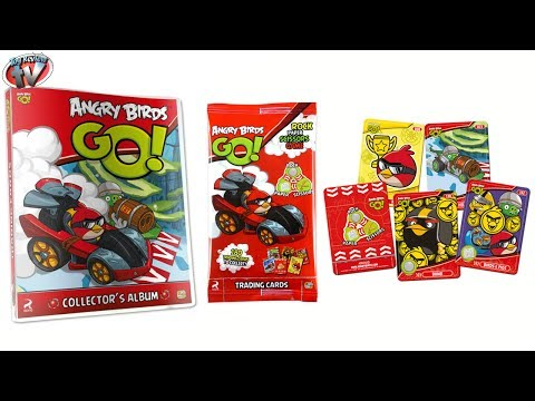 Angry Birds GO! Trading Cards Binder Starter Pack Review & Pack Opening. Giromax