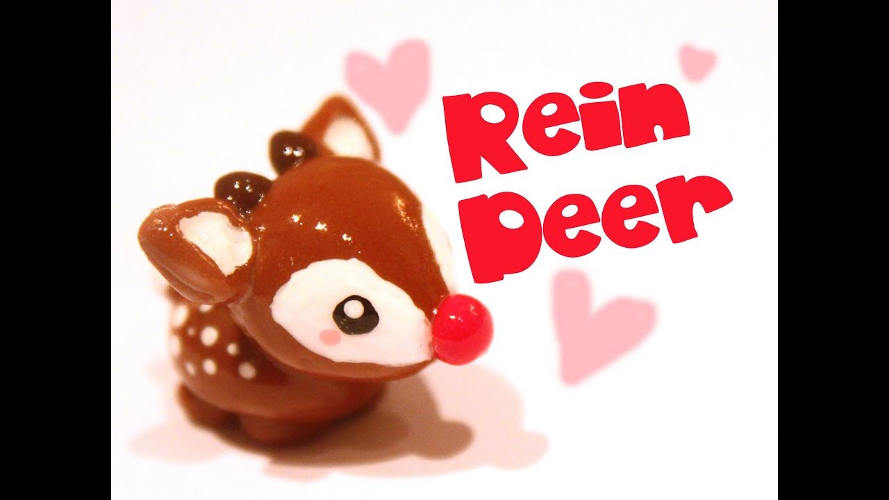 Reindeer! Kawaii Friday 52 (Tutorial in Polymer Clay) - YouTube ...
