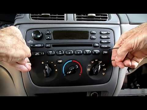 Ford Taurus Radio.Headlight Switch. Instrument Cluster Removal