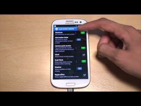 How to Customize Lock Screen Apps / Icons on Samsung Galaxy S3 (SIII. i9300)