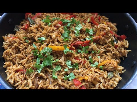 Capsicum Masala Rice Recipe Video | Lunch box Recipes | Easy Rice Recipes for Lunch Rice Varieties