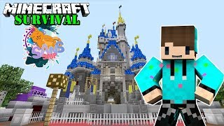 MEMBANGUN DISNEY CASTLE ! Minecraft Survival SanSMP #3