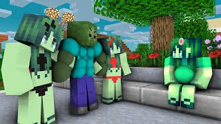 Monster School : Zombie  Girl Sad Life  -  Full Animation - Minecraft Animations