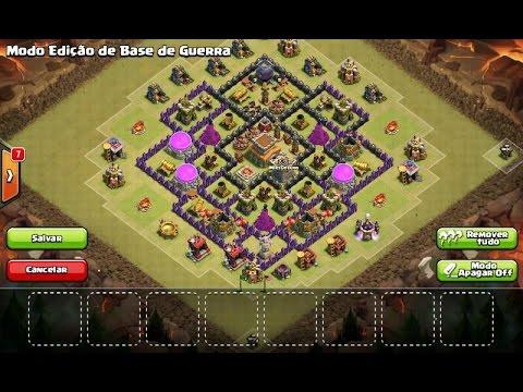 Clash of Clans - Melhor layout de guerra TH8/CV8 (Anti PT)