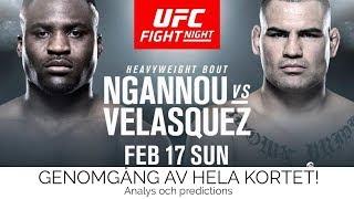 UFC On ESPN 1 Ngannou v Velasquez - Genomgång av hela kortet - Analys & Prediction