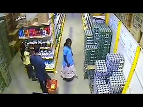 Woman Steals Beer Under Her Skirt video