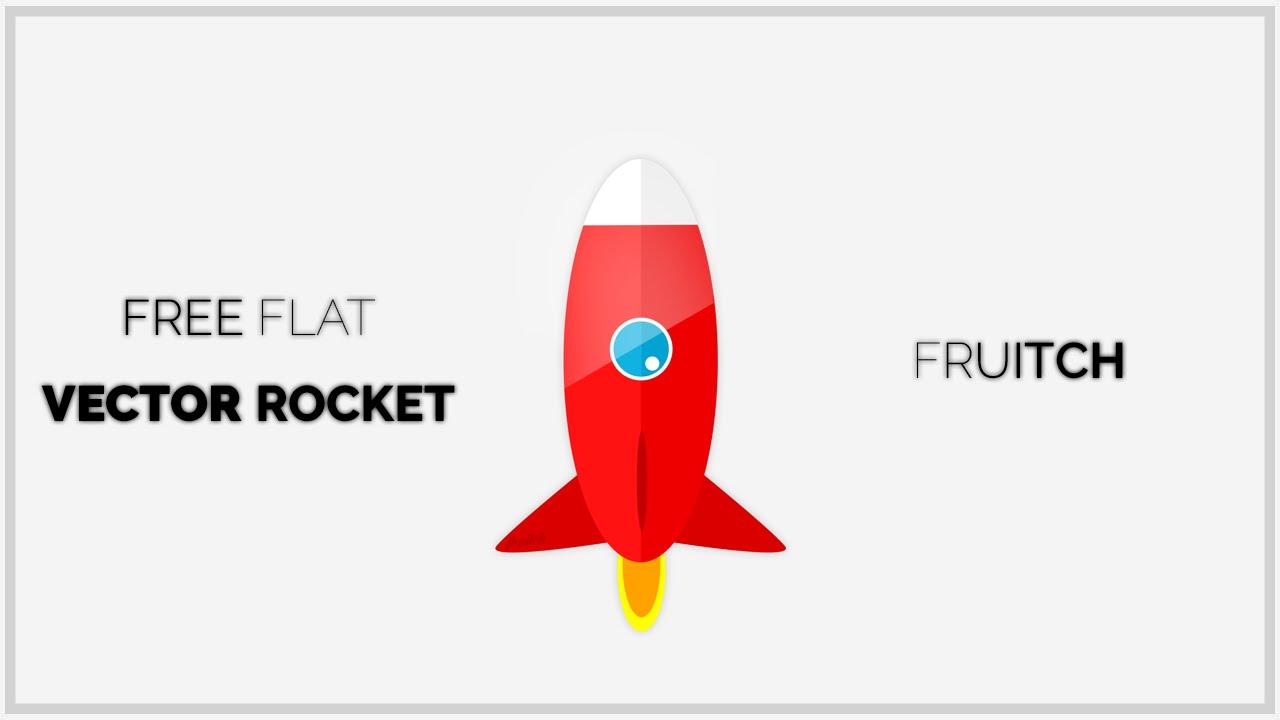 Red Rocket Icon Free Flat Vector Rocket Icon
