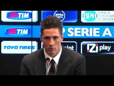 Fernando Torres thanks Liverpool & Chelsea at AC Milan unveiling
