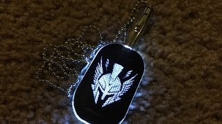 Unboxing the Call of Duty Advanced Warfare LED Light up Dog Tag