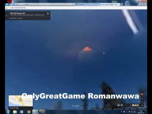 Google earth street view UFO paranormal activity Montana USA 2014 (alien ship)