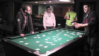 Crazy Card Trick on Pool Table - Day 322 of 365