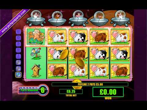 Cows outer space slot machine