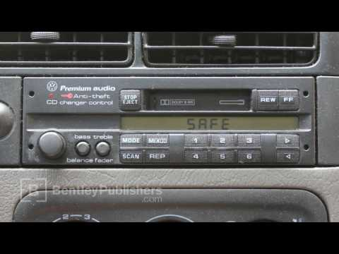 VW or Audi  How to Enter a Radio Code - Radio display reads SAFE