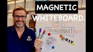 Whiteboard Magnetic Paint. Awesome DIY Project!