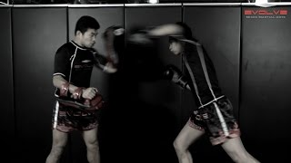 Muay Thai - Low Kick, Straight Left K.O. Fight Breakdown | Evolve University