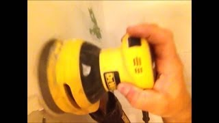 drywall sanding tool dewalt orbital palm hand sander review