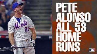 All 53 of Mets' rookie Pete Alonso's home runs in 2019 | MLB Highlights