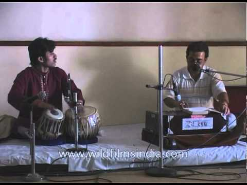 Hindu religious singing or Bhajans at Aurobindo Ashram