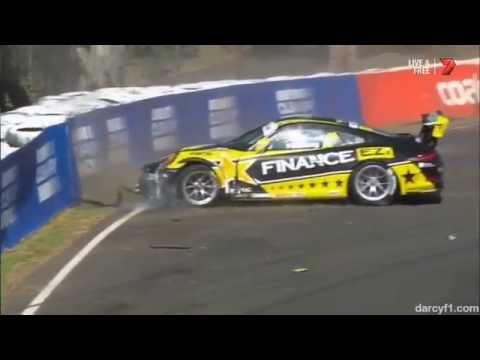 Cini and Pickering Big Crashes @ 2014 Porsche Carrera Cup Bathurst Qua
