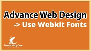 Web Design Advance Course [Bangla] - ( Use Local Webkit font )