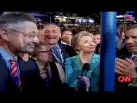 Hillary Clinton Nominates Barack Obama at 2008 DNC