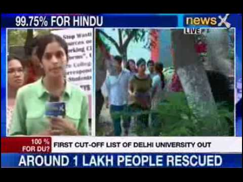 NewsX: Getting admission in DU gets tougher