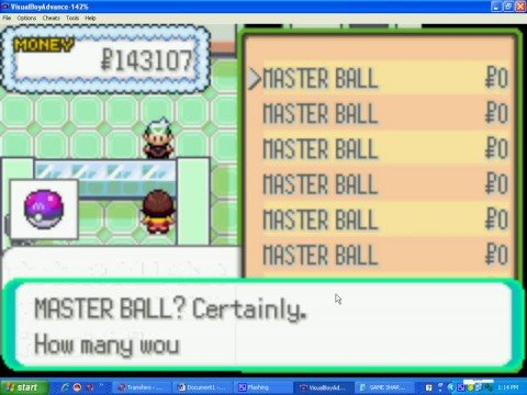 HOW TO PUT GAME SHARK CODES IN VBA POKEMON EMERALD(COMP)