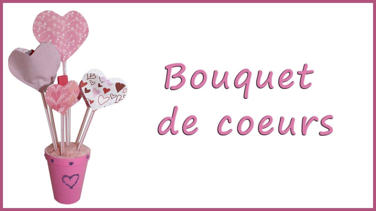 Bouquet de coeurs pour st valentin youtube - Pinterest st valentin bricolage ...
