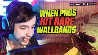 CS:GO - WHEN PROS HIT RARE WALLBANGS! ft. dupreeh, Fallen, Guardian & MORE!