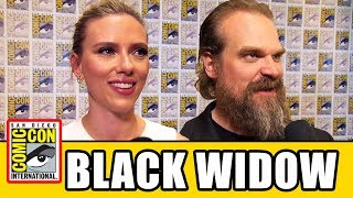 BLACK WIDOW Comic Con Cast Interviews