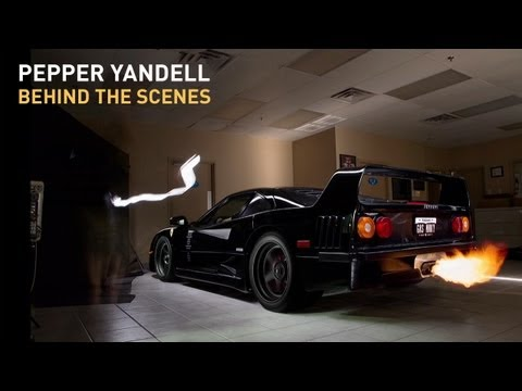 Shooting the gas monkey garage f40 pepper yandell bts for Garage happy car