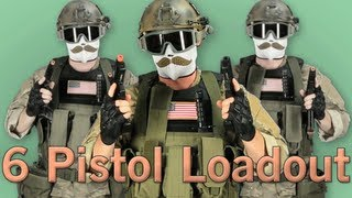 Airsoft GI - 6 Pistol Loadout! Elite Force 1911, KWA HK45 and ATP Auto, Featuring Bob the Axe Man