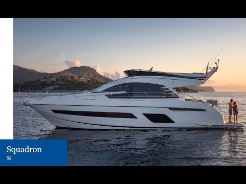 2018 FAIRLINE SQUADRON 53 at the British Motor Yacht Show