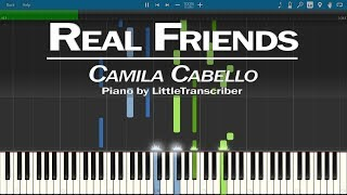 Download Lagu Camila Cabello - Real Friends (Piano Cover) Synthesia Tutorial by LittleTranscriber Gratis STAFABAND