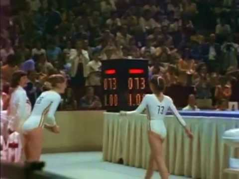 Nadia Comaneci reflects on the first perfect 10 received at the Olympic Games in 1976 during the team competition. Although she received a total of seven perfect 10's throughout her Olympic...