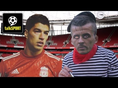 Crazy Football Trick Shots At The Emirates | Suarez | Barton | STR