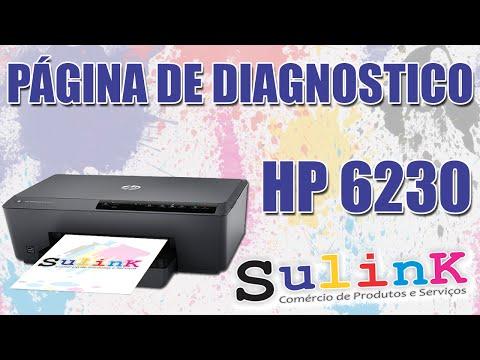 Pagina de Diagnóstico / Testes na Impressora HP 6230 (Com Bulk Ink Instalado) - SULINK