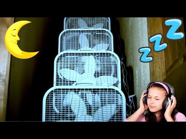3 Hour Nap ~ 8 FANS ~ Sleep like a baby - Black Screen ~ Fan Sound