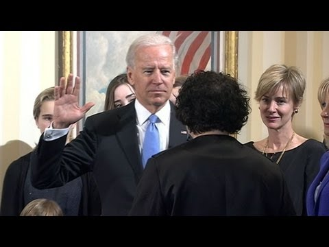 Vice President Joe Biden Sworn in for 2nd Term on 2013 Inauguration Day