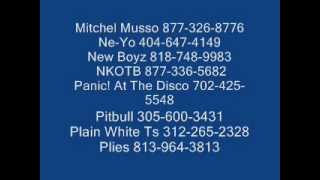 Celebrities numbers not all working 01 29