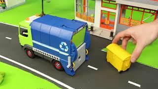 Xe cứu hỏa, máy xúc, xe lửa, xe cảnh sát, xe rác và máy kéo đồ chơi trẻ em