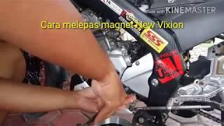 Tutorial cara melepas magnet new vixion / R15 / MX King /Jupiter mx