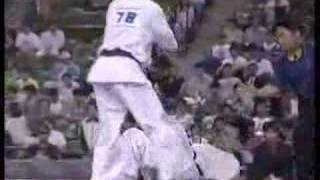 """Kyokushin Karate"" KO (middle & knee kick)"
