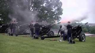 21-Gun Salute On Memorial Day 2013