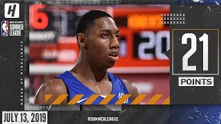 RJ Barrett Full Highlights Knicks vs Wizards (2019.07.13) Summer League - 21 Pts, 10 Ast, 8 Reb!