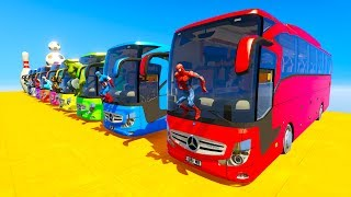 Download LEARN COLOR giant BUS jump cartoon for kids and babies 3D animation 3Gp Mp4