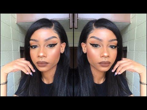 ♡ Lace Frontal Wig Tutorial for Beginners; Glue Gun Method  ♡
